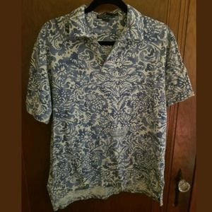 Ralph Lauren Floral Print Polo Shirt Medium